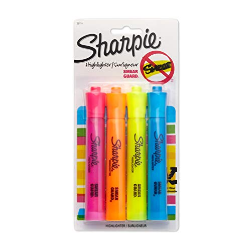 4 Pack Of Sharpie Accent Tank-Style Highlighters For $1.50 From Amazon