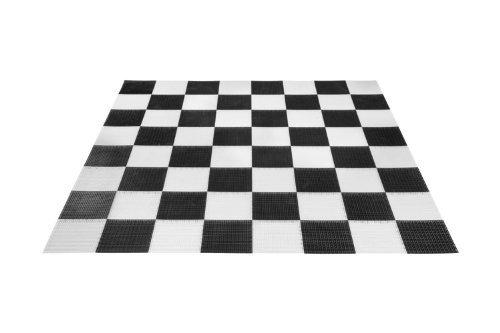 Schaakbord - 304x304cm - Losse tegels Kunststof - Schaken