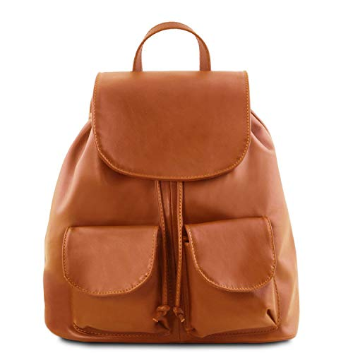 Tuscany Leather Seoul TL141507 Praktische rugzak van leer, cognac (oranje) - TL141507