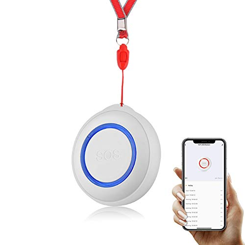Tuya WiFi Alarma inalámbrica, botón SOS Alarma de Sensor inalámbrico Inteligente, buscapersonas inalámbrico Botón de Llamada inalámbrico Alarma de hogar, Alarma de Ancianos Interruptor de Alarma