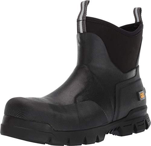 "Caterpillar Unisex-Adult Stormers 6"" Steel Toe Work Boot Construction, Black, 7"