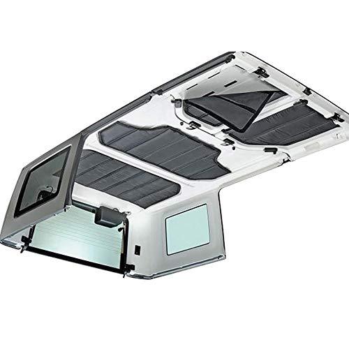 Ksruee Schalldämpfendes und dämmendes Set für Türen und Hardtops Kompatibel für 2-Door/4-Door for Jeep Wrangler JK 12-17 Langlebige Dachhimmelscharniere Wärmeisolierung