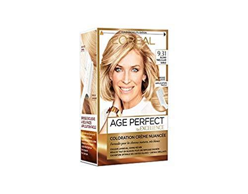 L'Oréal Paris - Excellence Age Perfect - Coloration Permanente Cheveux Matures & Très Blancs - Nuance 9,31 Blond Très Clair Sable