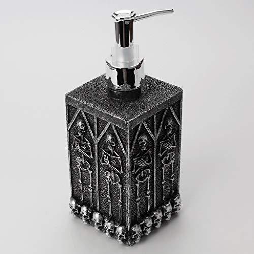Botella de Resina Negro dispensador de jabón líquido Plaza Cripta cráneo fácil de Usar Ducha Dispensadores de fácil Limpieza FOU baño fregaderos y encimeras