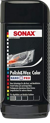 SONAX Polish & Wax Color Nano Pro black grey color car 250 ml / 8.5 oz