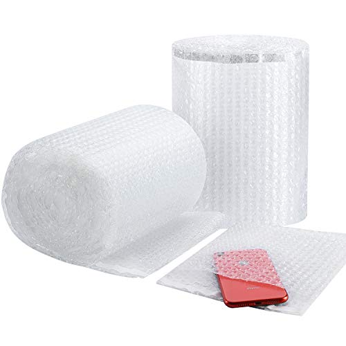 Metronic Bubble Cushion Wrap Pouches Anti-Static Bubble Bags 7.5x7.5 Inch,2 Rolls 50 Packs Bubble Cushioning Wrap Pouch Bag Rolls for Packing (Clear, 7.5x7.5)