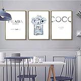DOOPVM Parfümflasche Poster Zitate Kunstdrucke Parfüm