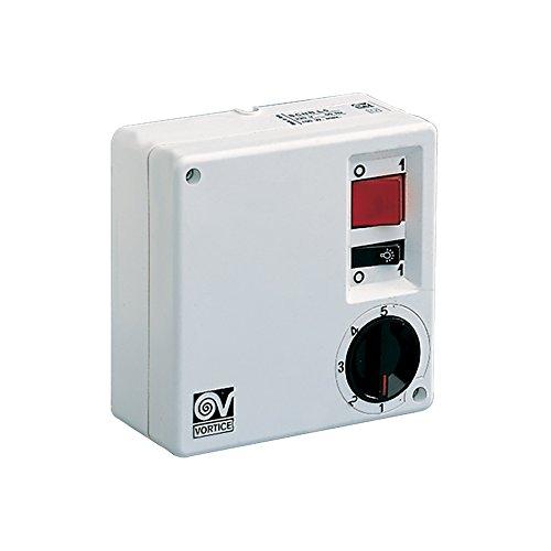 Vortice SCRR5L Weiß - Ventilatorgeschwindigkeitsregler (Weiß, Knöpfe, Drehregler, 220-240, 100 W, 120 mm, 55 mm)