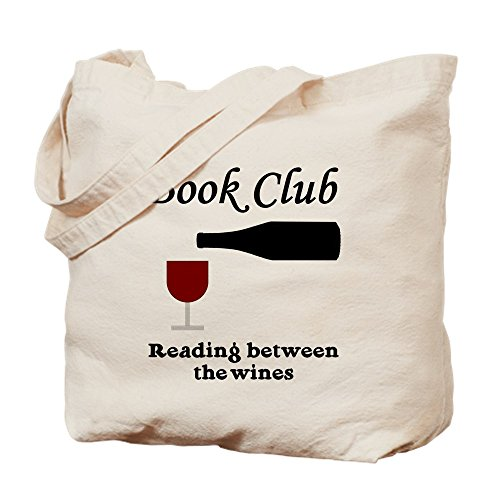 CafePress - Book Club Reading Between The - Natural Canvas...
