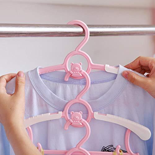 Zhaoyangeng Duurzame babykleerhanger, telescoop, kleding, leuke cartoon, kinderhanger, kledingrek, pasgeborenen, baby, kunststof, kledinghanger, 5 stuks @ 2 stuks