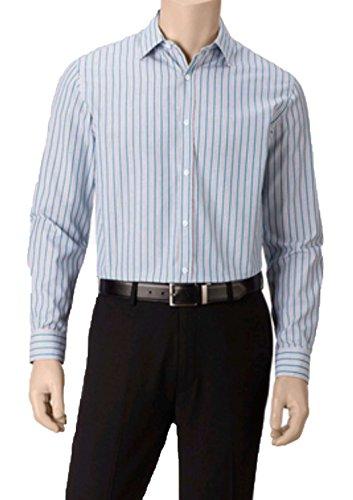 John Henry Men's Regular Fit Stripe Long Sleeve Shirt (X-Large, Turkish Tie)