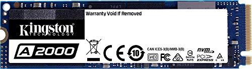 Kingston SA2000M8/250G Interne M.2 PCIe NVMe SSD 2280 250GB A2000 Retail M.2 NVMe PCIe 3.0 x4