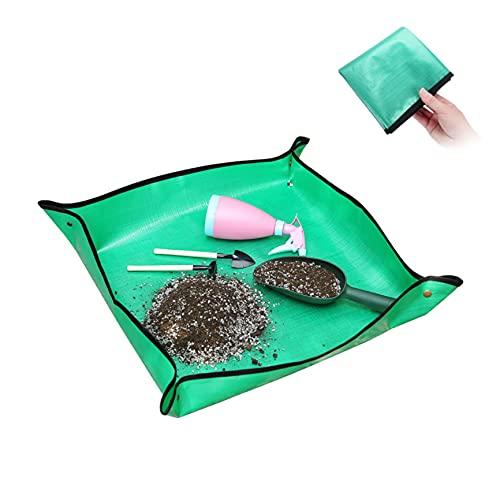 JIYINGDUO Almohadilla de jardinería para trasplante de plantas, tela de trabajo plegable,...