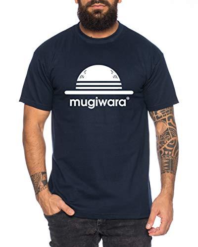 Mugiwara - T-Shirt pour Homme Son Ruffy Luffy Saitama One Dragon Goku Ball Vegeta Punch Man Piece, Farbe2:Bleu foncé, Größe2:Large