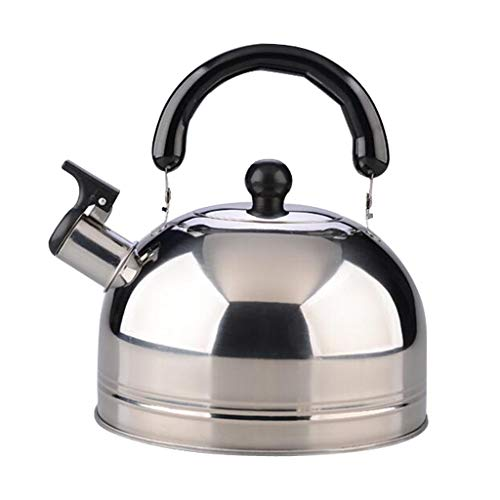 Amuzocity 2.5L 3L 4L Whistling Kettle Tea Coffee Teapot Kitchen Camping Acero Inoxidable - Plata, tal como se describe