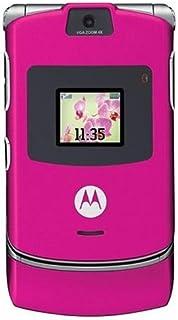 Motorola RAZR V3 Unlocked Phone with Camera, and Video Player-International Version with No Warranty (Magenta Pink)