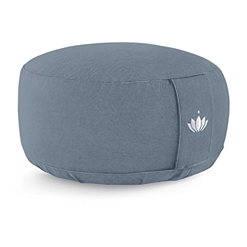Lotuscrafts Meditation Cushion LOTUS - Height 15 cm - Spelt Filling - Washable Cover Organic Cotton - Floor Cushion Meditation - Yoga Cushion - Meditation Pillow - Yoga Pillow - GOTS Certified
