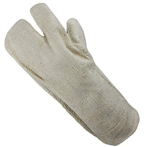 Land-Haus-Shop Grillhandschoen, katoen, dubbelzijdig hittebestendig, extra lang, grill, open haard, oven, handschoenen, bakplaat