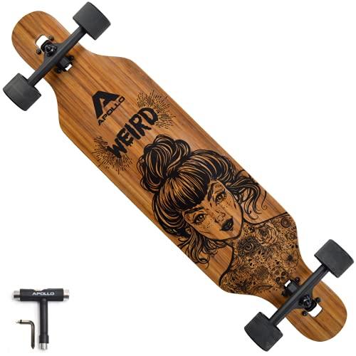 APOLLO Longboard Skateboards - Premium Long Boards for Adults, Teens and Kids. Cruiser Long Board Skateboard. Drop Through Longboards Made of Bamboo,...