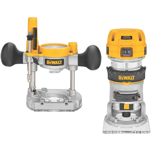 DEWALT Router Fixed/Plunge Base Kit, Variable Speed, 1.25-HP Max...