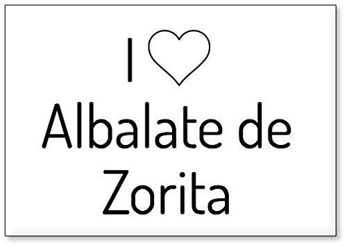 Mundus Souvenirs - Amo Albalate de Zorita, Imán para Nevera (diseño 3)