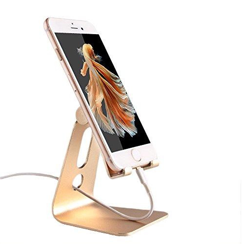 Supporto Telefono, WindTeco Universal Multi-Angolo Portatile Durevole in Alluminio Stand Supporto di Tablet per 4-8 Pollici Serie Smartphone, Tablet, ebook reader