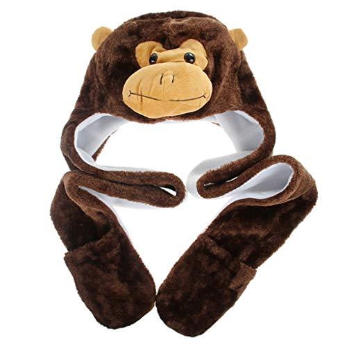 Yoking 3-in-1 Multifunktionaler Schal, Hut und Handschuhe, niedliches...