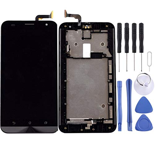 un known Cambiar Las Piezas sustituidas Jornada Pantalla LCD y Montaje Completo de digitalizador con Marco para ASUS ZENFONE 2 Laser ZE550KL Z00LD Accesorio (Color : Black)