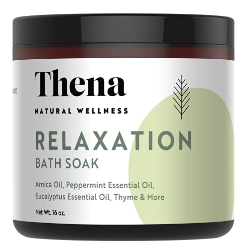 Organic Muscle Soak Relaxation Stress Relief Aromatherapy Essential Oils Arnica Peppermint Eucalyptus Natural Dead Sea Bath Salts for Self Care Wellness Soaking Foot Home SPA Relaxing Gifts Women Men