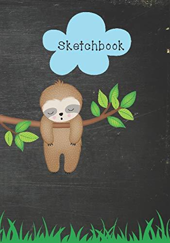 Sketchbook: Cute Sloth Drawing Book For Kids, Women, Teens, Boys and Girls