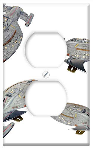 Switch Plate Outlet Cover - Space Ship Model Star Trek Uss Voyager Isolated