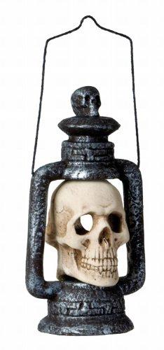 Widmann 7827H - Deko Totenkopf Laterne mit Wechsellicht, ca. 35 cm
