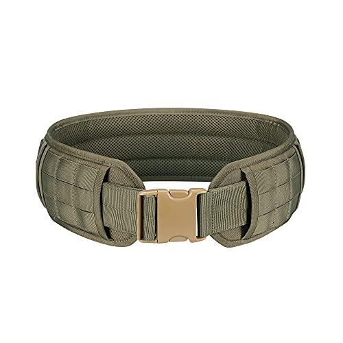 EXCELLENT ELITE SPANKER Military Molle Waist Belt Multi-Purpose Patrol Padded Belt Outdoor Sports Equipment(Ranger Green-M)