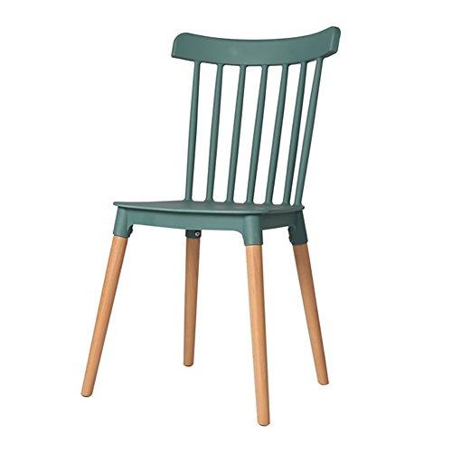 GY Chair - - Chaise Moderne Nordique en Bois Massif, Salon, Bureau, Salle à Manger, Fauteuil Confortable (Taille 84X43X46 cm) /+-+/ (Couleur : Vert foncé)