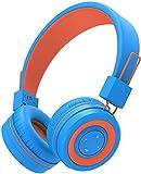 iClever Bluetooth Auriculares para niños con Micrófono, Diadema Ajustable con Control de Volumen, y Plegables, Auriculares para niños compatibles con Tablet, Kindle