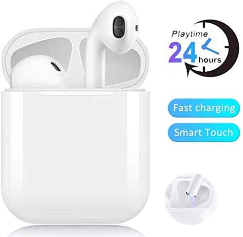 Bluetooth 5.0 Kabellose Kopfhörer, Stereo-Kopfhörer mit Mikrofon, automatische Kopplung, Noise Cancelling 3D Stereo wasserdichte Sport-Headset-Kopfhörer für Apple Airpods Android/iPhone