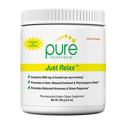 Just Relax - Citrus 60 Servings | Supports: Relaxed Mood, Healthy Blood Pressure, Emotional Wellness, Hormonal Balance* | Myo-inositol; Di-Magnesium Malate, GABA, Taurine, L-Theanine (Suntheanine)