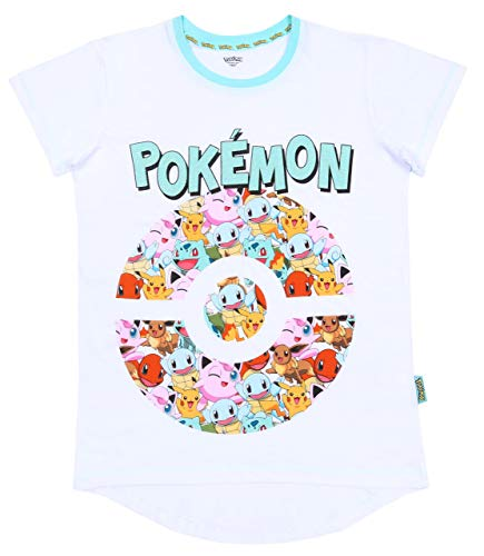 Wit-mintgroen shirt Pokemon