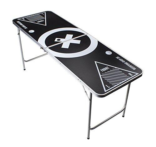 Beer Pong Tisch - Audio Table Design - 6 ft Beer Pong Table inkl. 6 Bälle und Regelwerk
