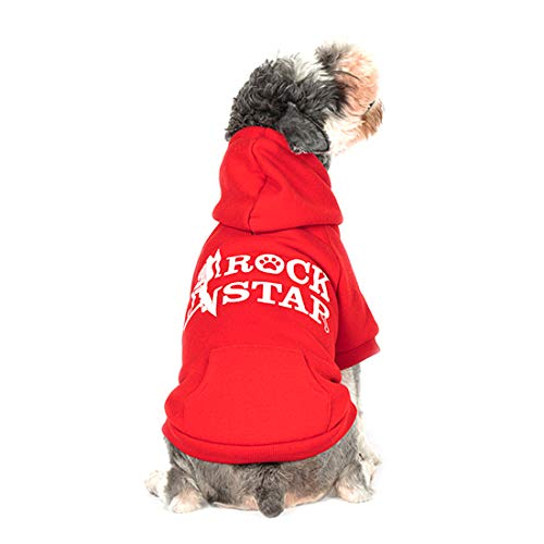 kyeese Dog Hoodies Sweatshirt with Harness Hole Thicken Pet Cold Weather Coats for Fall Winter