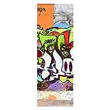 wandmotiv24 Türtapete Graffiti 2 70 x 200cm (B x H) - Dekorfolie selbstklebend Tapete, Tür-Aufkleber, Türbild, Wandbild M0026