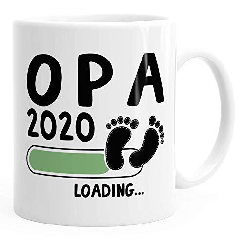 Kaffee-Tasse Opa 2020 loading Geschenk-Tasse für werdenden Opa Schwangerschaft Geburt Baby MoonWorks® weiß unisize