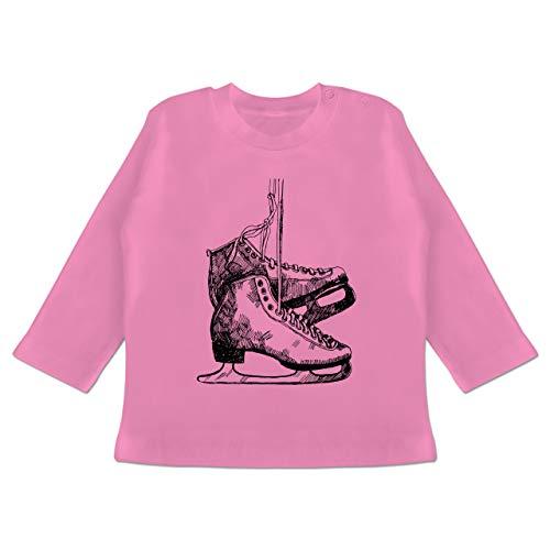 Sport Baby - Schlittschuhfahren - 12/18 Monate - Pink - Schlittschuhe - BZ11 - Baby T-Shirt Langarm