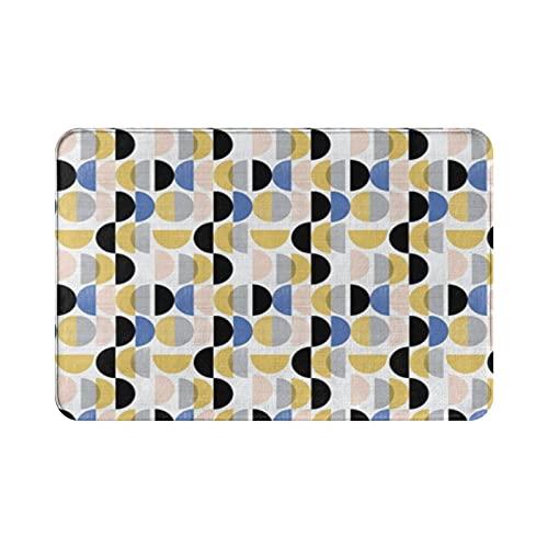 Bauhaus - Felpudo con forma de círculos pequeños (15 x 23 pulgadas)
