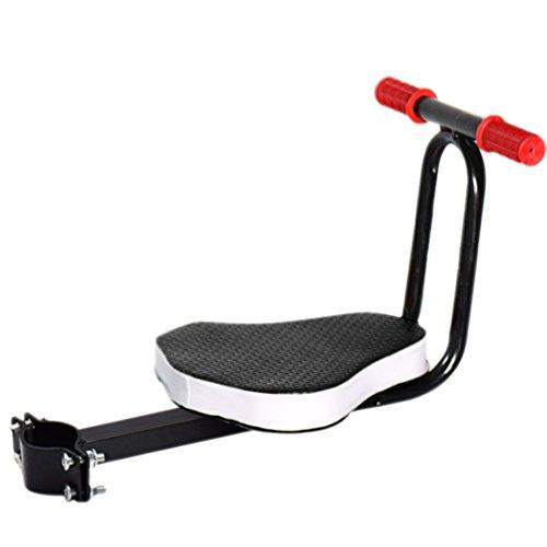 Sella per bici, Foxom seggiolino bicicletta anteriore supporto sella per bicicletta bambino con manico staccabile,Sella+Maniglia