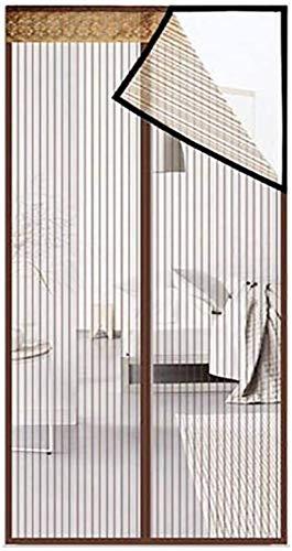 Door Curtain Kit de Mosquitos sin Red Cortina de Puerta magnético de la Puerta, Escudo Neta Alta Blanca Puede Mantener alejados a los Insectos y Mosquitos,marrón,160 * 220 centimetri (63x87inch)