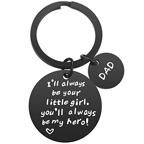Dad Gifts from Daughter - Father Daughter Gifts Black Dad Keychain, Christmas Gifts for Dad Birthday Gifts Father's Day Gifts for Dad