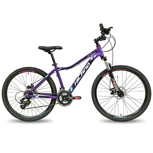 Hiland 26 Inch Mountain Bike for Women Disc Brake Urban Commuter City Bicycle Purple