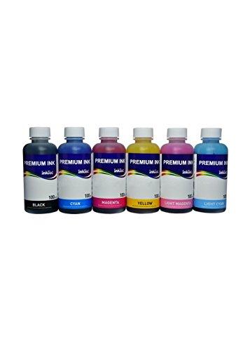 6 bottiglie di inchiostro E0014 100ml Dye per cartucce Epson 24 / 24XL, stampanti Expression Photo XP - 750, XP - 850, XP - 55, XP - 760, XP - 860, XP - 950, XP - 960