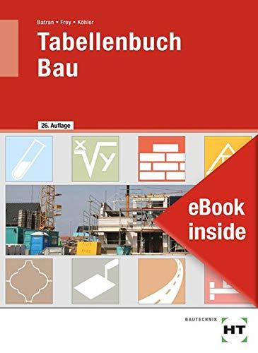 eBook inside: Buch und eBook Tabellenbuch Bau